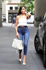 Olivia Culpo Leaving a meeting in LA