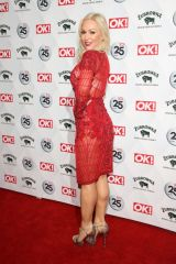 Kristina Rihanoff Attends the OK! Magazine's 25th anniversary party at The Shard in London