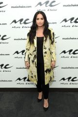 Demi Lovato Visits Music Choice at Music Choice Studios in New York City