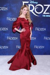 Caissie Levy At Opening night party for Disney's Frozen held at Terminal 5 party space in New York