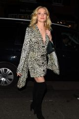 Clara Paget Arrives at Mark's Club for a Vogue Dinner in London