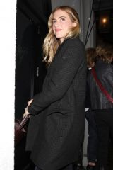 Emily Wickersham Joins a friend for dinner at Craig's restaurant in West Hollywood