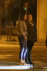 Emma Roberts & Milla Jovovich Out to dinner to a japanese restaurant in Barcelona