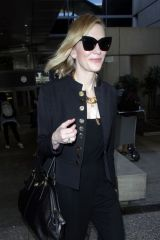 Cate Blanchett Is all smiles as she touches down in Los Angeles