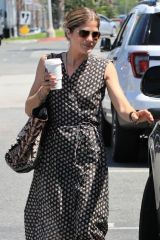 Selma Blair Looked stunning in a patterned dress as she strolled around with a new handsome gent in Los Angeles