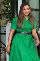 Mindy Kaling Seen at the 'Oceans 8' press junket event in New York