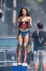 Gal Gadot On set of 'Wonder Woman 1984' in Washington D.C.