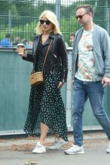 Holly Willoughby & Daniel Baldwin Out on Father's Day in London