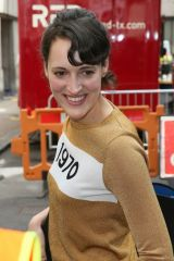 Phoebe Waller-Bridge Arrives at Central Hall Westminster for James Corden's Late Late Show in London