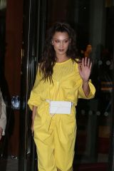 Bella Hadid Leaving from her parisian hotel to go at private address in Paris