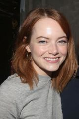 Emma Stone Backstage at 2018 Tony Winning Best Musical 'The Band's Visit' on Broadway