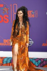 Jasmin Savoy Brown At 2018 BET Awards, Los Angeles
