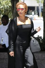 Melanie Brown Arrives at the Los Angeles Courthouse