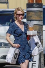 Emma Roberts Makes a quick trip to Joan's on Third in Los Angeles