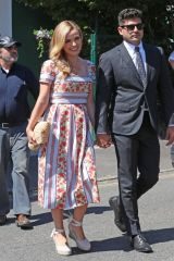 Katherine Jenkins Arriving at Wimbledon Tennis Tournament Final Day - London