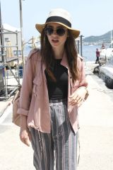 Lily Collins At her hotel Regina Isabella during the Ischia Global festival in Italy