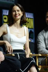 Katherine Waterston At Warner Bros. panel during day 3 of Comic-Con in San Diego