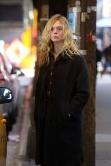 Elle Fanning Filming Sally Potter's untitled project in NYC