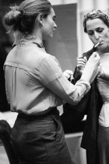 Gillian Anderson In rehearsals for All About Eve
