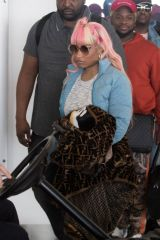 Nicki Minaj Departing from Adelaide Airport, Australia