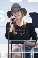 Connie Britton At 2019 Women's March Los Angeles