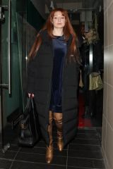 Nicola Roberts Leaving Farzi Cafe in London