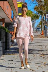 Alessandra Ambrosio Outside a pilates class in LA