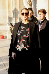 Olivia Palermo At Schiaparelli Haute Couture Spring Summer fashion show in Paris