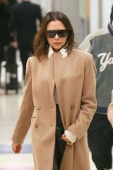 Victoria Beckham Lands at JFK airport in NY