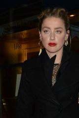 Amber Heard Seen leaving Restaurant Lapérouse in Paris
