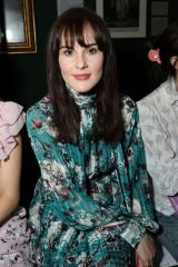 Michelle Dockery At Front row at the Erdem Autumn/Winter 2019 show during London Fashion Week