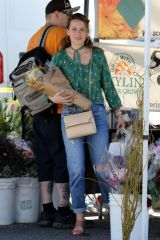 Bethany Joy Lenz At the Farmer's Market in Studio City