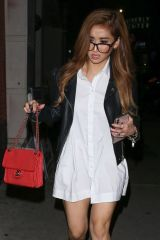 Brenda Song Arrives at The Bunny Ears Podcast with Macaulay Culkin in LA