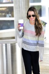 Lea Michele At LAX