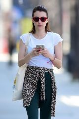 Emma Roberts At The Alfred's Coffee In West Hollywood