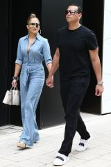 Jennifer Lopez and fiancee Alex Rodriguez head out to lunch in Miami
