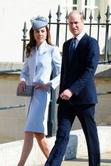 Kate Middleton Attends the traditional Easter Sunday church service at St George's Chapel in Windsor, England