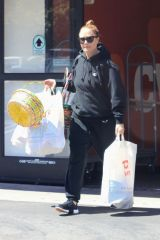 Leah Remini Is pictured picking up Easter supplies at CVS in Los Angeles