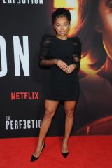 Logan Browning At screening of Nextflix's 'The Perfection' in New York City