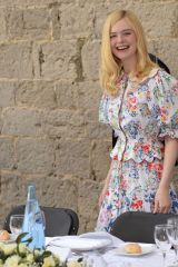 Elle Fanning At Mayor's Lunch during the 72nd annual Cannes Film Festival in Cannes