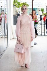 Elle Fanning Leaving Hotel Martinez in Cannes France