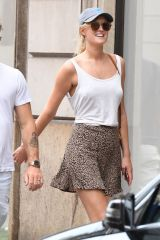 Toni Garrn and boyfriend Alex Pettyfer step out in Milan, Italy