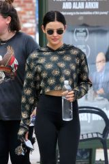 Lucy Hale Leaving Training Mate in Studio City