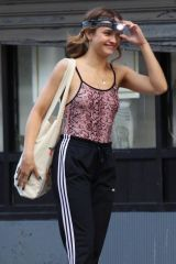 Olivia Cooke Are seen filming upcoming movie project Naked Singularity in Brooklyn, New York