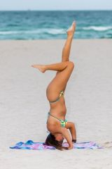 Claudia Romani On the beach in South Beach