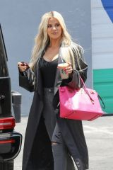 Khloe Kardashian Steps out of a Calabasas Studio