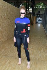 Larsen Thompson At Off-White Menswear Spring Summer 2020 show front row in Paris, France