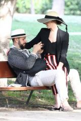 Ashley Greene Enjoy a romantic day with her husband at El Retiro Park in Madrid