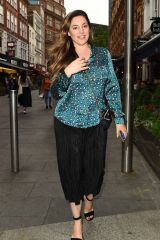 Kelly Brook Leaves Global Studios after presenting on Heart Radio in London
