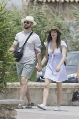 Ashley Greene Out in Ibiza